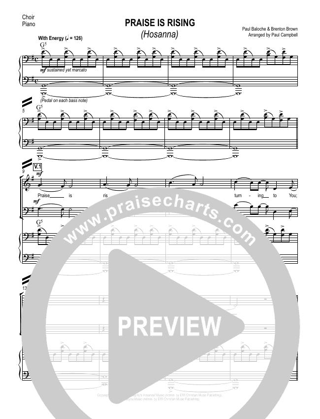 Hosanna (Praise Is Rising) Choir Sheet (SATB) (Paul Campbell)