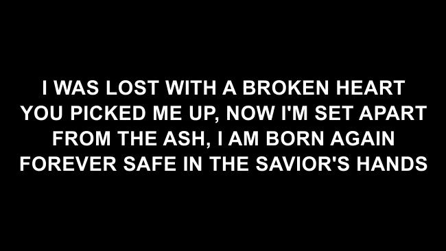 Alive Lyric Slides (Hillsong Young & Free)