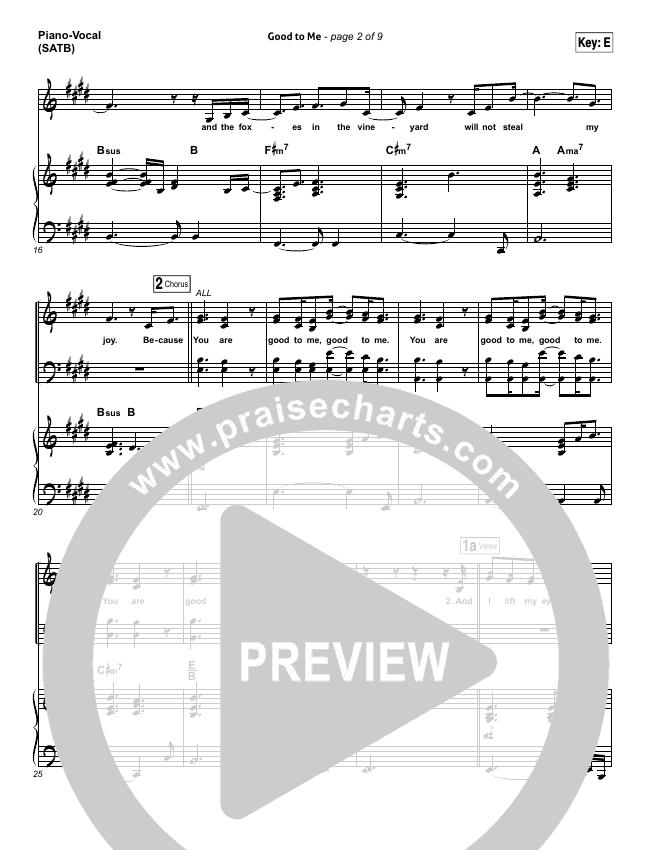Good To Me Piano/Vocal (SATB) (Audrey Assad)