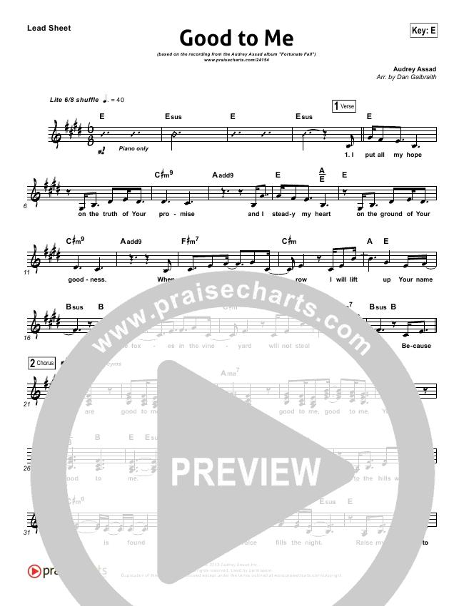Good To Me Orchestration & Finale (Audrey Assad)