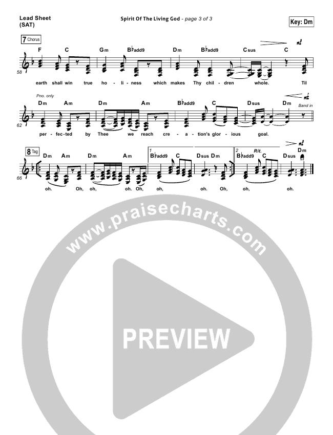 Spirit Of The Living God Piano/Vocal Pack (Audrey Assad)