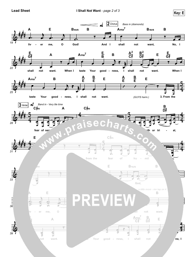 I Shall Not Want Lead & Piano/Vocal (Audrey Assad)