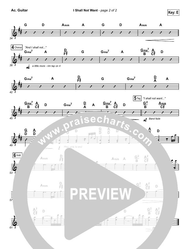I Shall Not Want Rhythm Chart (Audrey Assad)