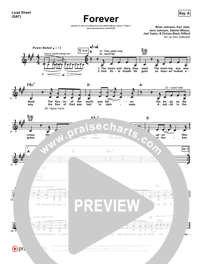 Forever Orchestration & Finale (Bethel Music / Brian Johnson)