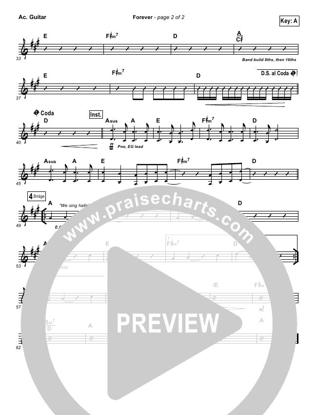 Forever Rhythm Chart (Bethel Music / Brian Johnson)