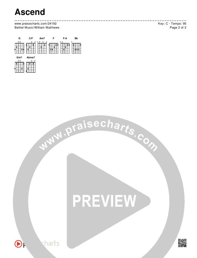Ascend Chords & Lyrics (Bethel Music / William Matthews)