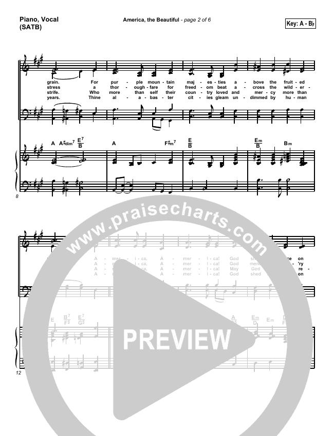America The Beautiful Piano/Vocal (SATB) (Mark Cole)