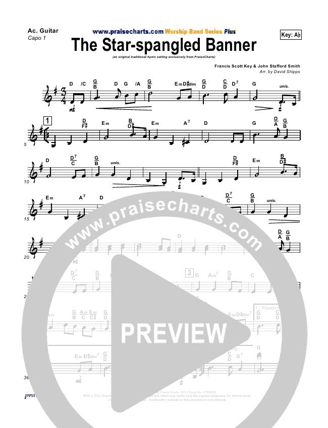 The Star Spangled Banner Rhythm Chart Praisecharts Praisecharts
