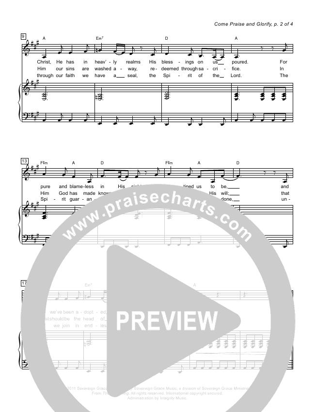 come praise and glorify chords pdf