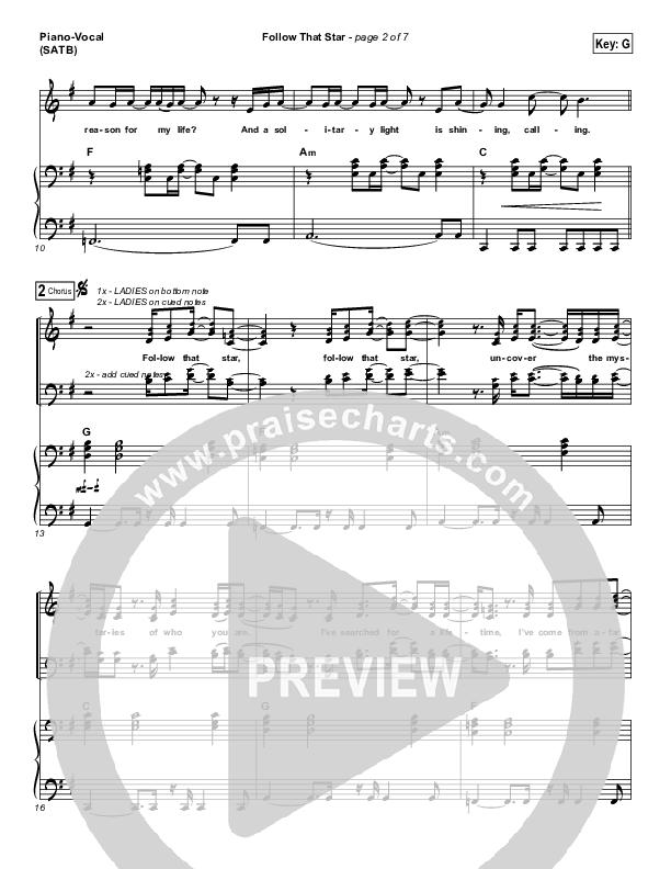 Follow That Star Piano/Vocal (SATB) (Paul Baloche)