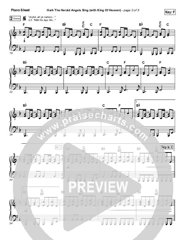 Hark The Herald (with King Of Heaven) Piano Sheet (Paul Baloche)