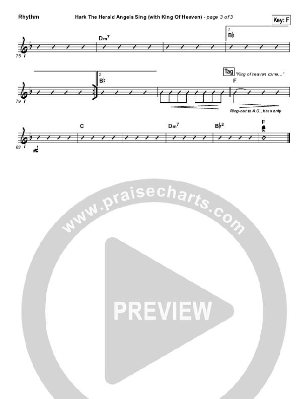 Hark The Herald (with King Of Heaven) Rhythm Chart (Paul Baloche)