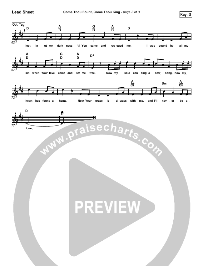 Come Thou Fount Come Thou King Piano/Vocal Pack (Gateway Worship)