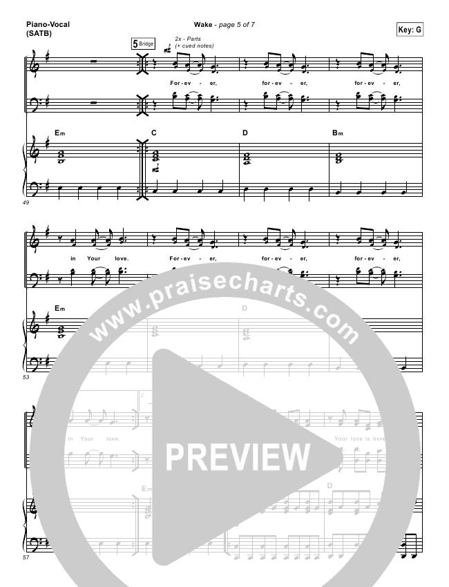 Wake Hillsong Piano Sheet Music Ibovnathandedecker