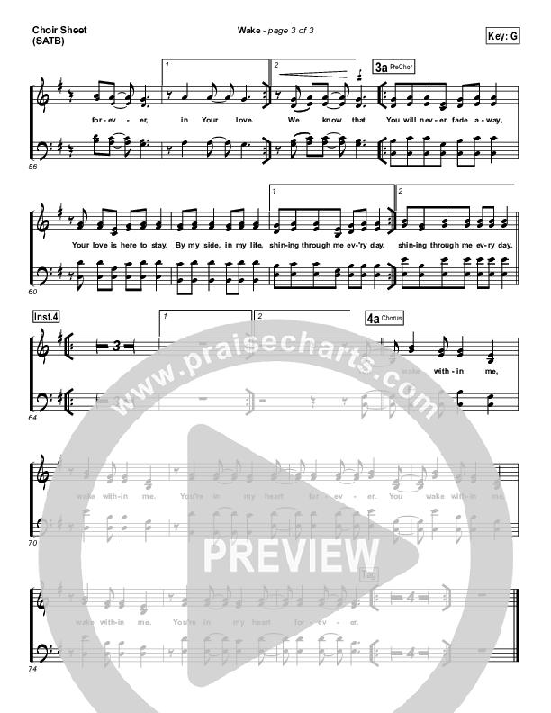 Wake Choir Sheet (SATB) (Hillsong Young & Free)