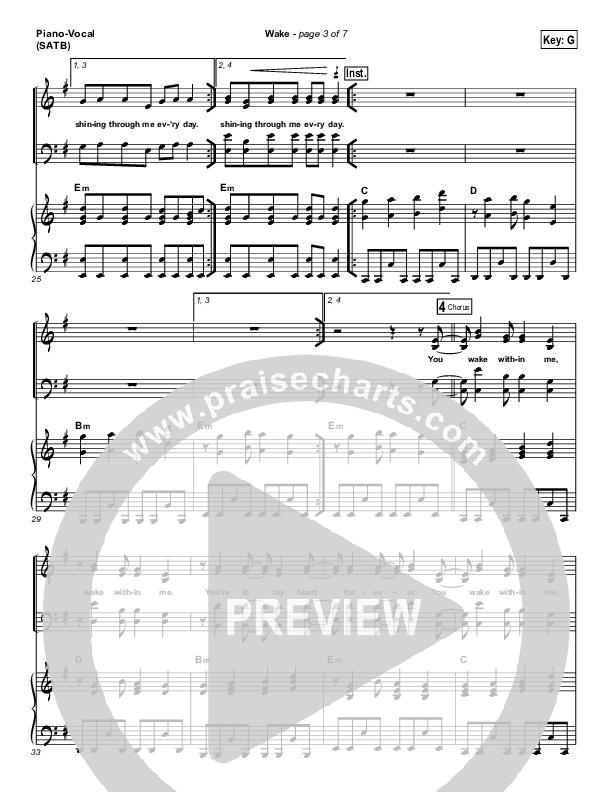 Wake Piano/Vocal (SATB) (Hillsong Young & Free)