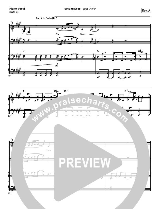 Sinking Deep Piano/Vocal (SATB) (Hillsong Young & Free)