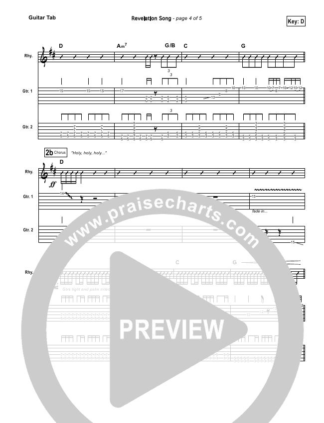 Revelation Song Guitar Tab Gateway Worship Praisecharts