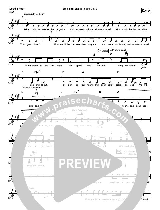 Sing And Shout Orchestration & Finale (Matt Redman)