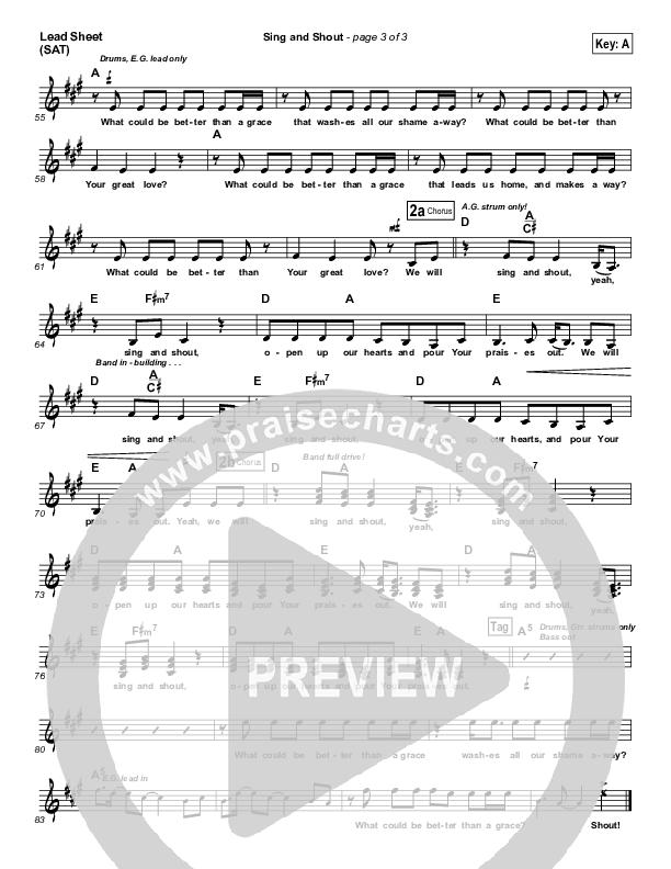 Sing And Shout Lead Sheet (SAT) (Matt Redman)