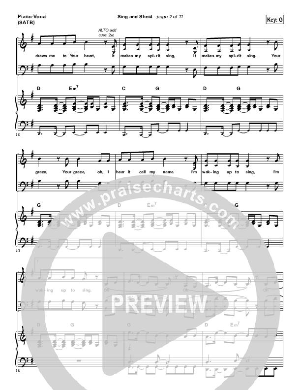 Sing And Shout Piano/Vocal (SATB) (Matt Redman)
