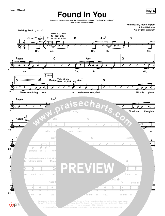 Found In You Orchestration & Finale (Vertical Worship)