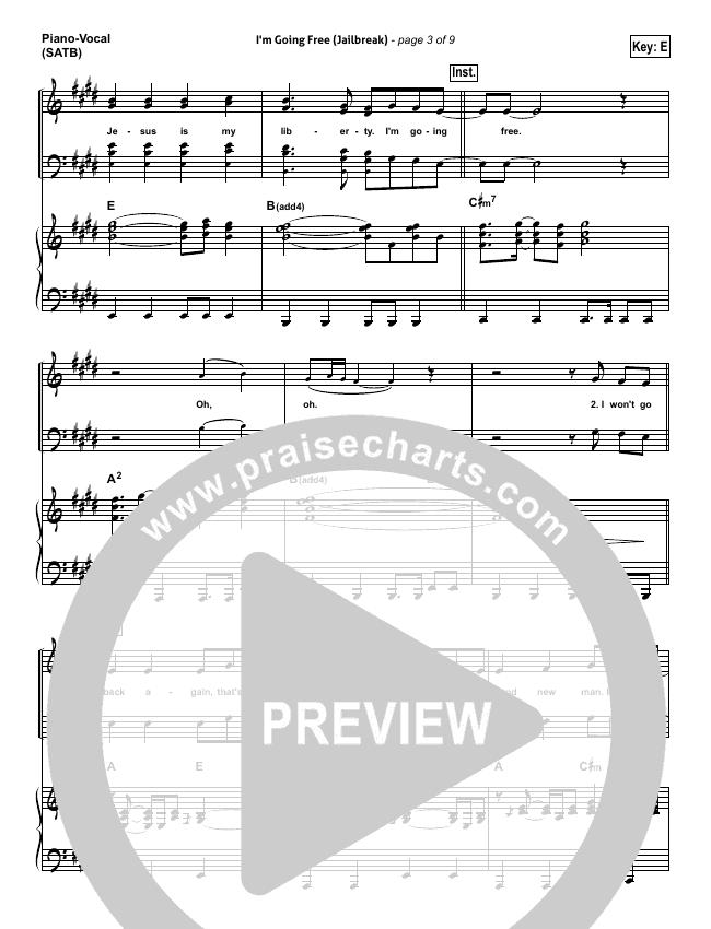 I'm Going Free (Jailbreak) Piano/Vocal (SATB) (Vertical Worship)