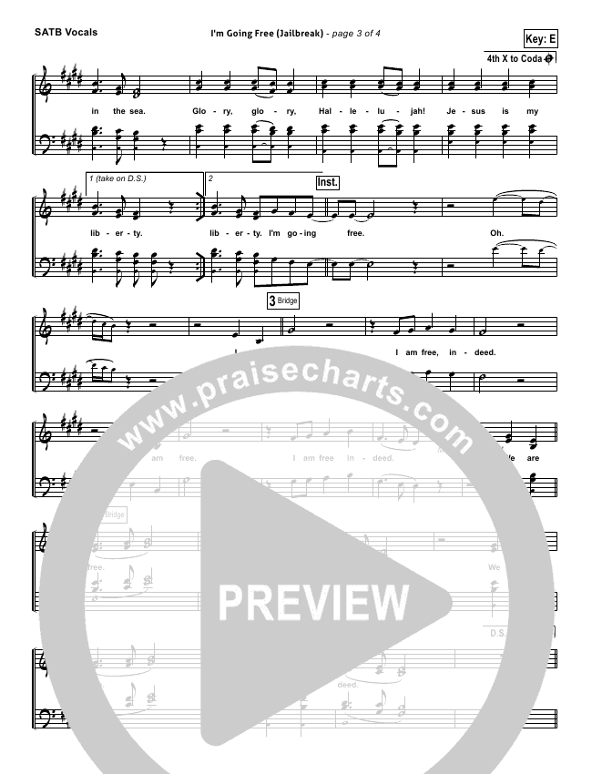 I'm Going Free (Jailbreak) Choir Sheet (SATB) (Vertical Worship)