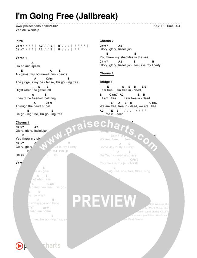 I'm Going Free (Jailbreak) Chords & Lyrics (Vertical Worship)