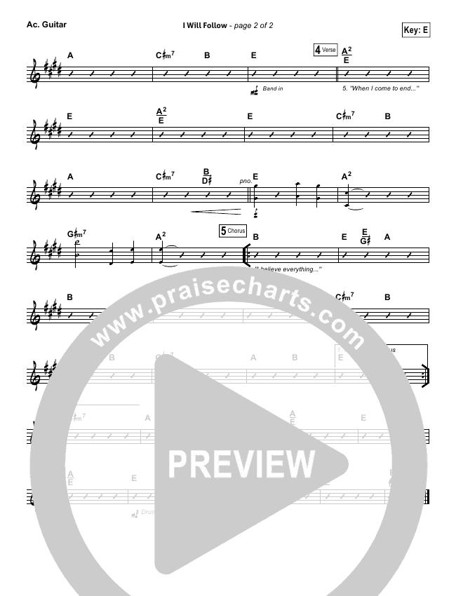 I WIll Follow Rhythm Chart (Vertical Worship)