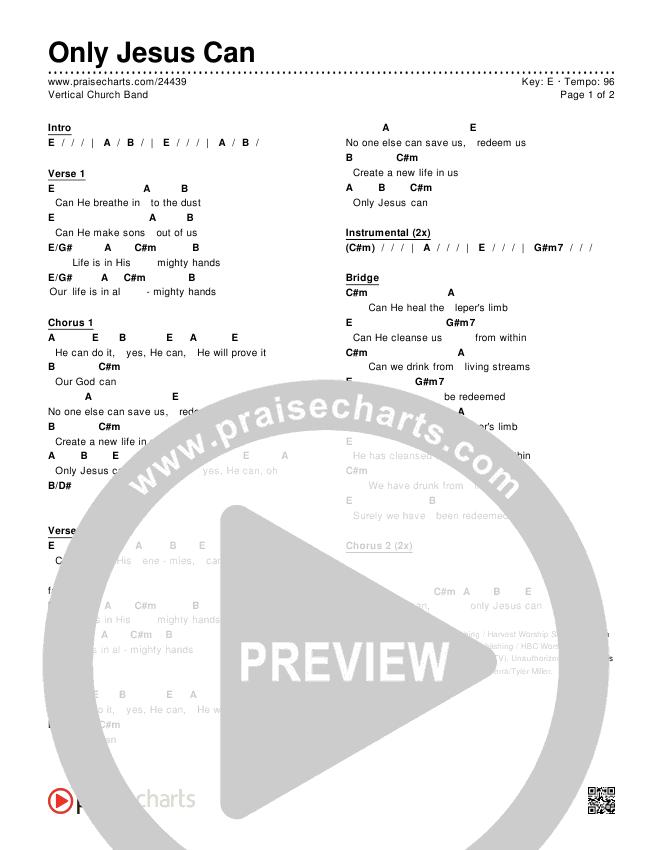 Only Jesus Can Chords & Lyrics (Vertical Worship)