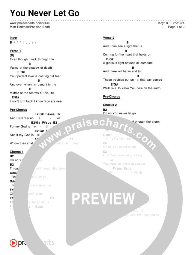 You Never Let Go Chords Matt Redman Passion Praisecharts