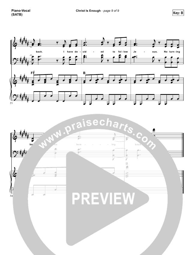 christ is enough piano sheet music pdf