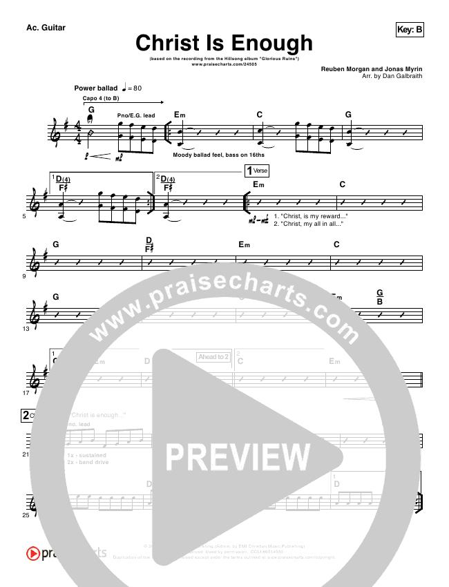 Christ Is Enough Rhythm Chart (Hillsong Worship)