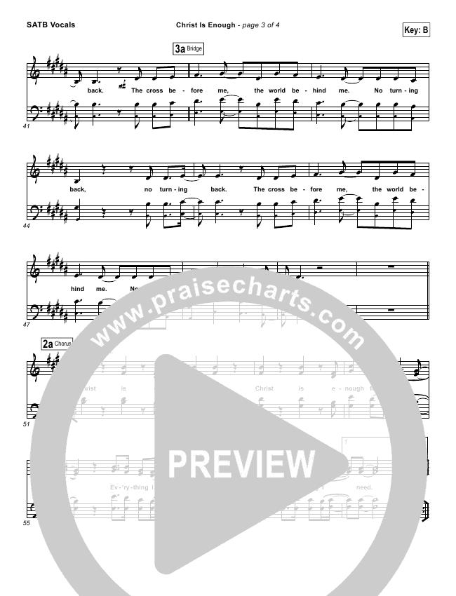 Christ Is Enough Choir Sheet (SATB) (Hillsong Worship)