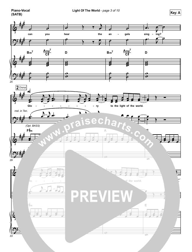 Light Of The World Piano/Vocal (SATB) (Lauren Daigle)