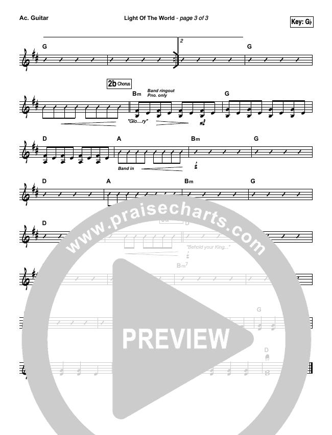 Light Of The World Rhythm Chart (Lauren Daigle)