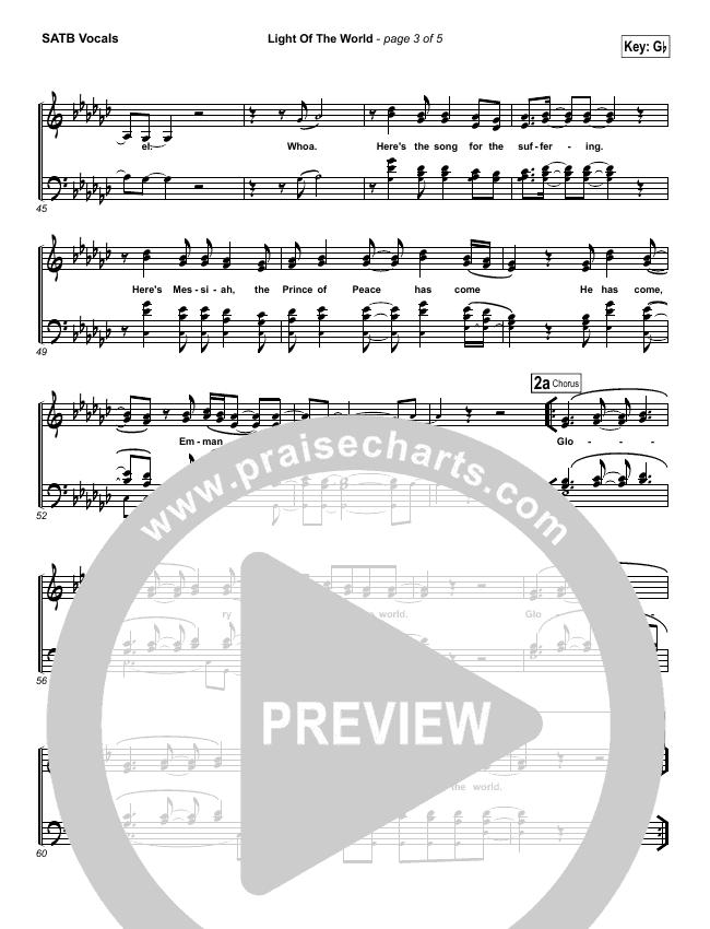 Light Of The World Choir Sheet (SATB) (Lauren Daigle)