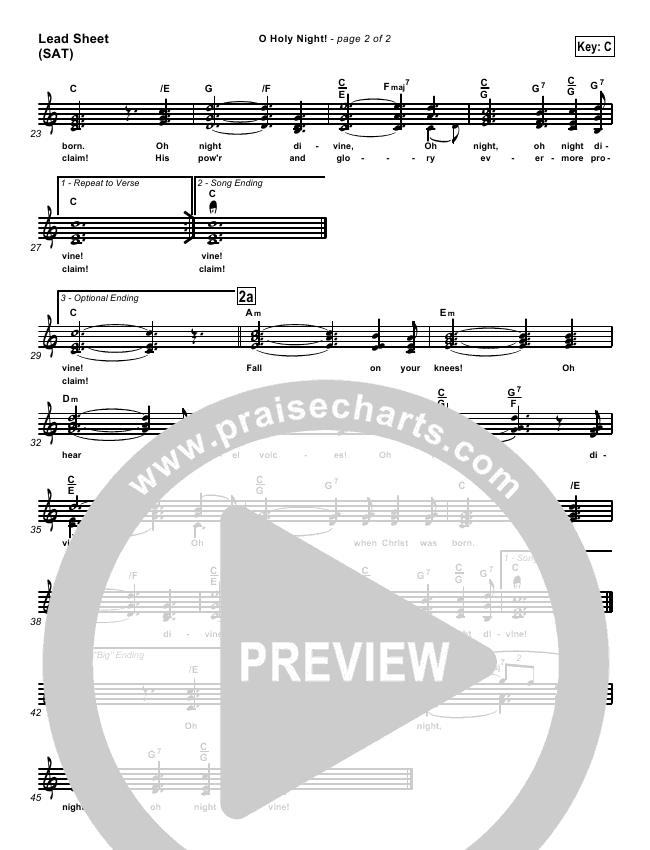 O Holy Night Lead & Piano/Vocal (Traditional Carol / PraiseCharts)