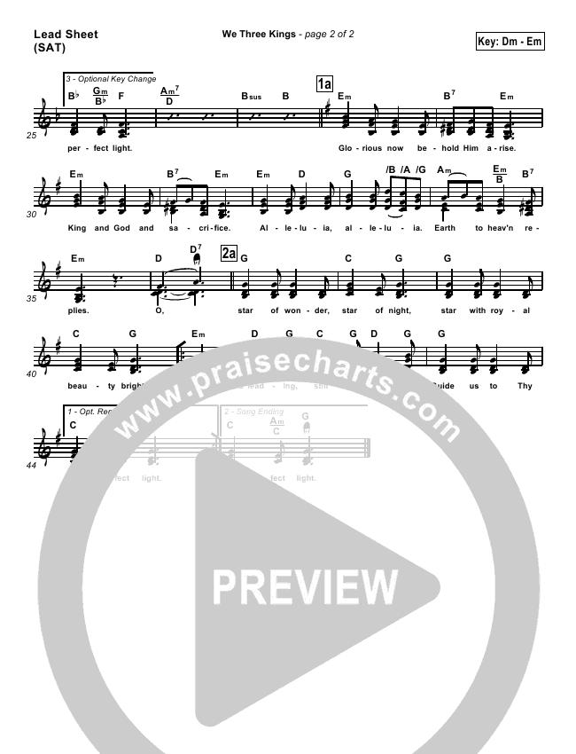 We Three Kings Orchestration (Traditional Carol / PraiseCharts)