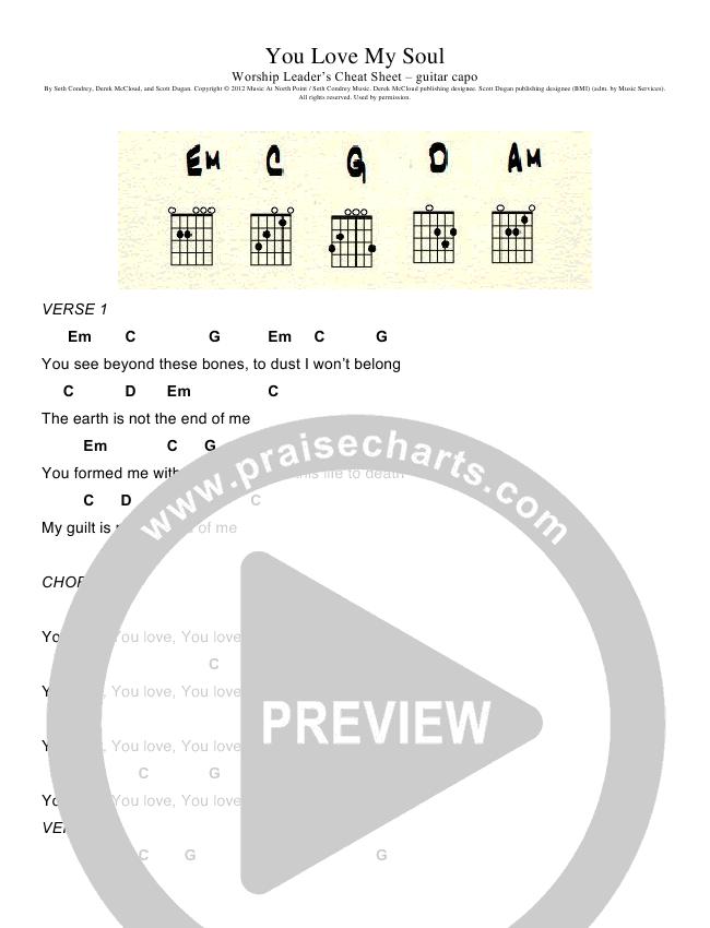 You Love My Soul Chord Chart (Seth Condrey)