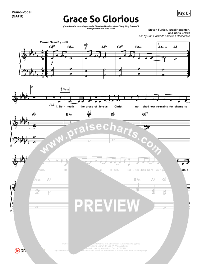Grace So Glorious Piano/Vocal (SATB) (Elevation Worship)