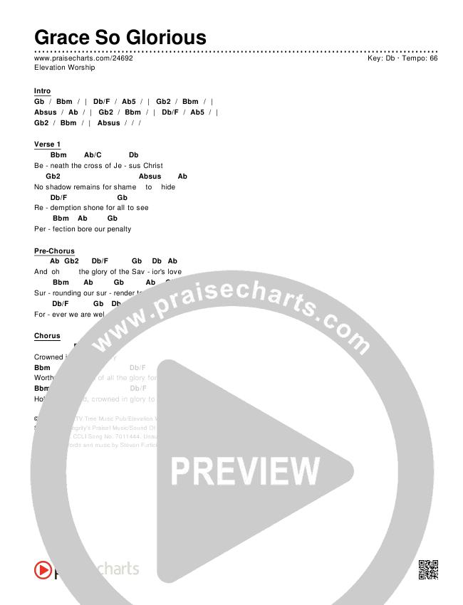 Grace So Glorious Chords & Lyrics (Elevation Worship)