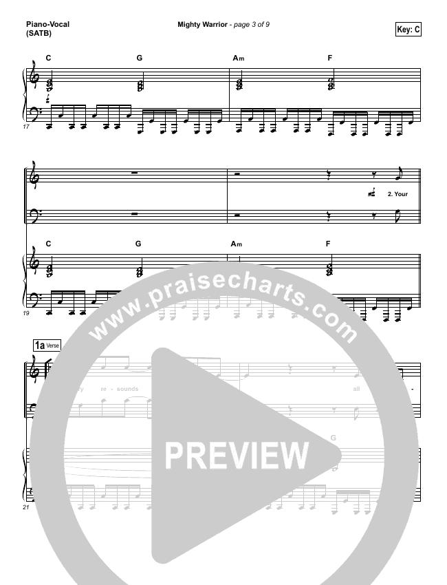 Mighty Warrior Piano/Vocal (SATB) (Elevation Worship)