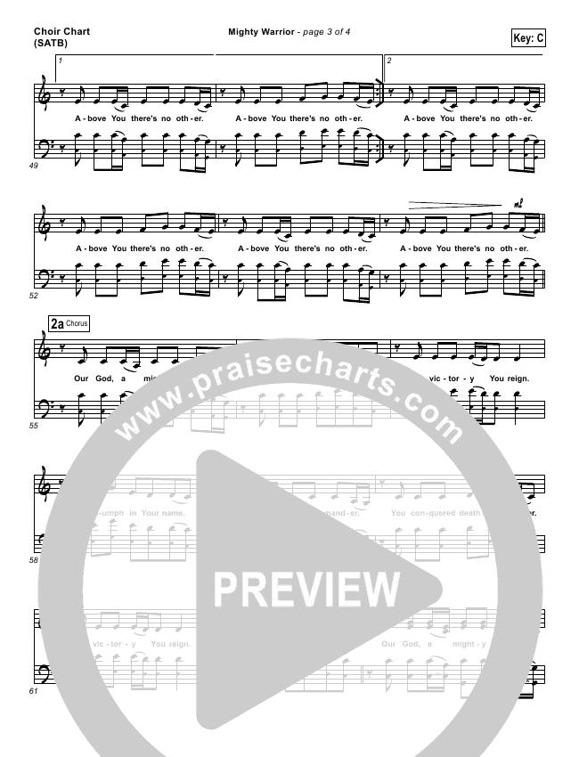 Mighty Warrior Choir Sheet (SATB) (Elevation Worship)