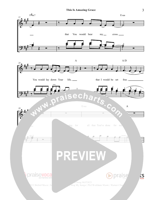 This Is Amazing Grace Lead Sheet (PraiseVocals)