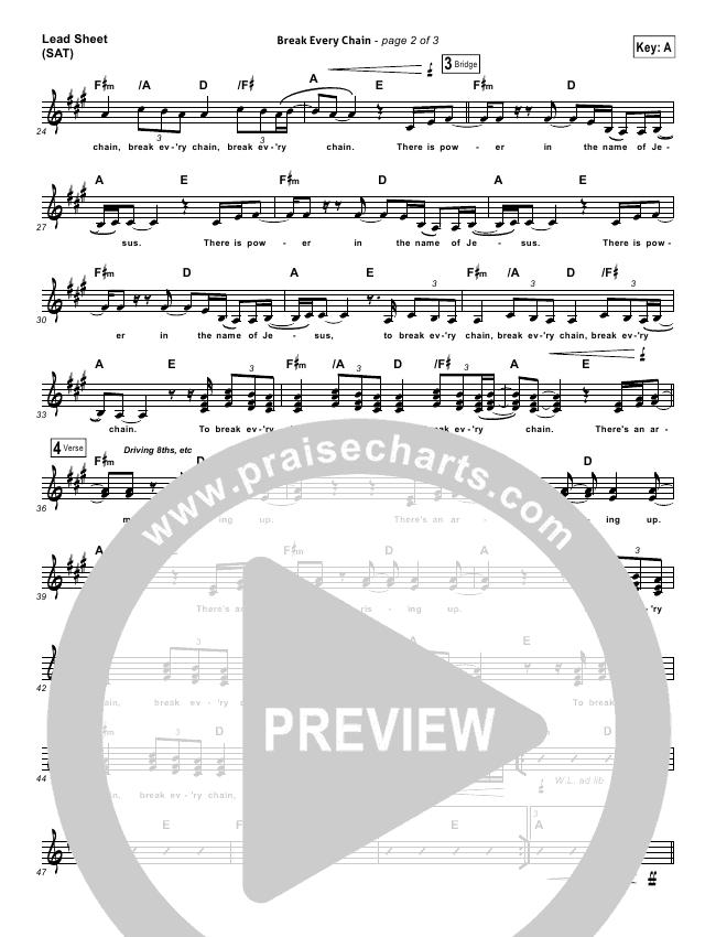 Break Every Chain Orchestration - Tasha Cobbs | PraiseCharts