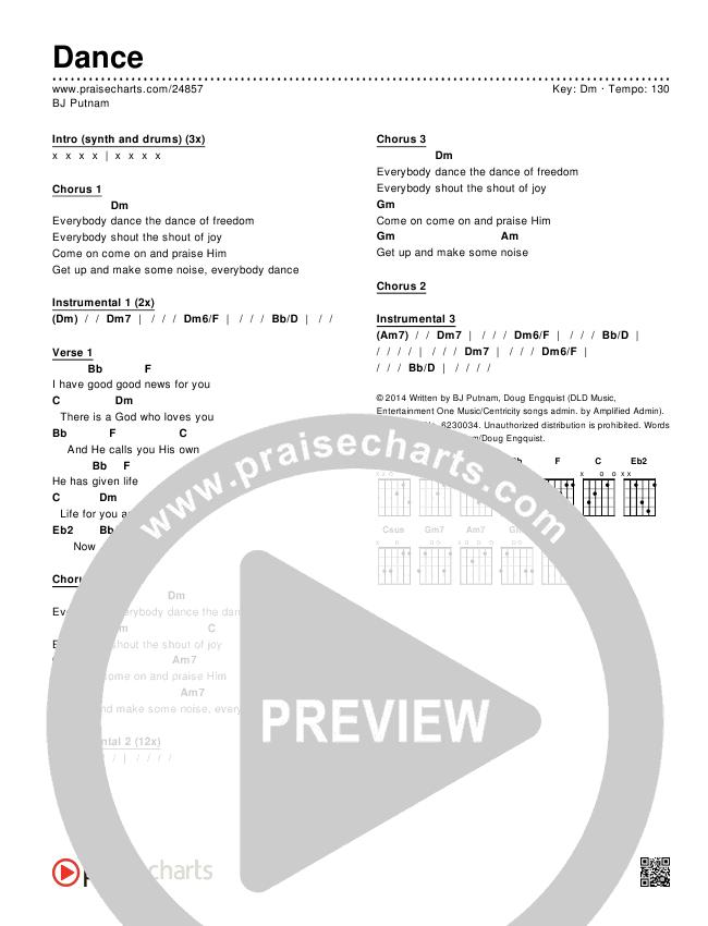 Dance Chords & Lyrics (BJ Putnam)