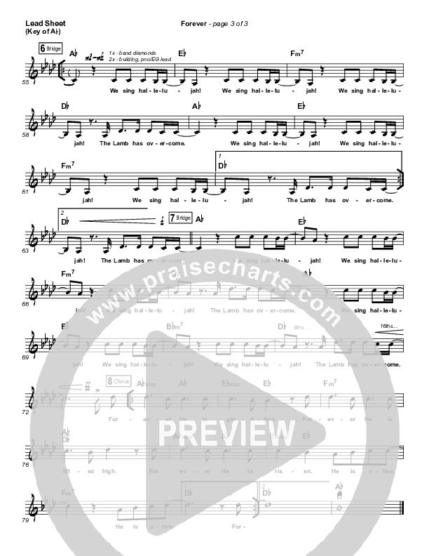 Forever (Live) Lead Sheet (Melody) (Kari Jobe)