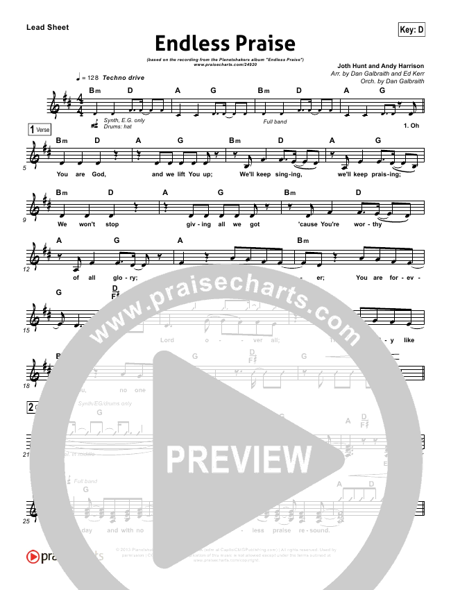 Endless Praise Orchestration (with Vocals) (Planetshakers)